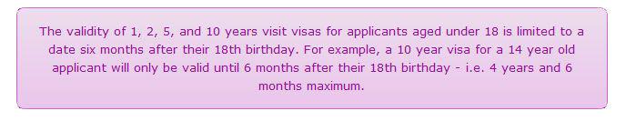 Детские визы до 18ти летия