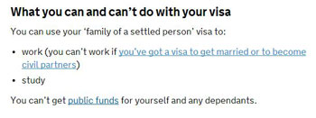 what you can and can not do with your visa - Виза невесты в Англию, Великобританию